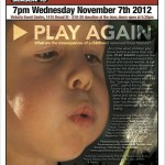 "Open Cinema hosts: ""Play Again"" – November 7th, 2012"