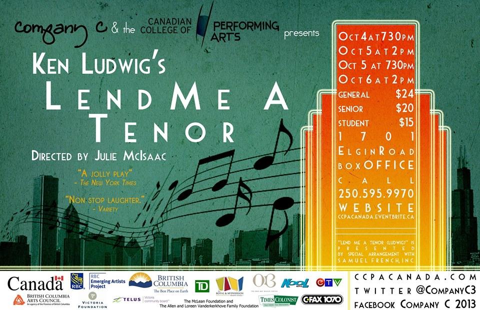 Lend Me a Tenor CCPA 2013