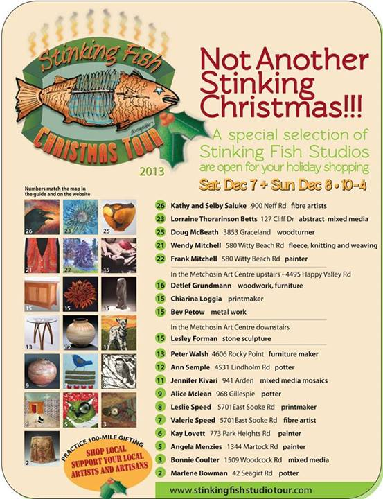 Stinking Fish Studio Tour Sale Dec 2013