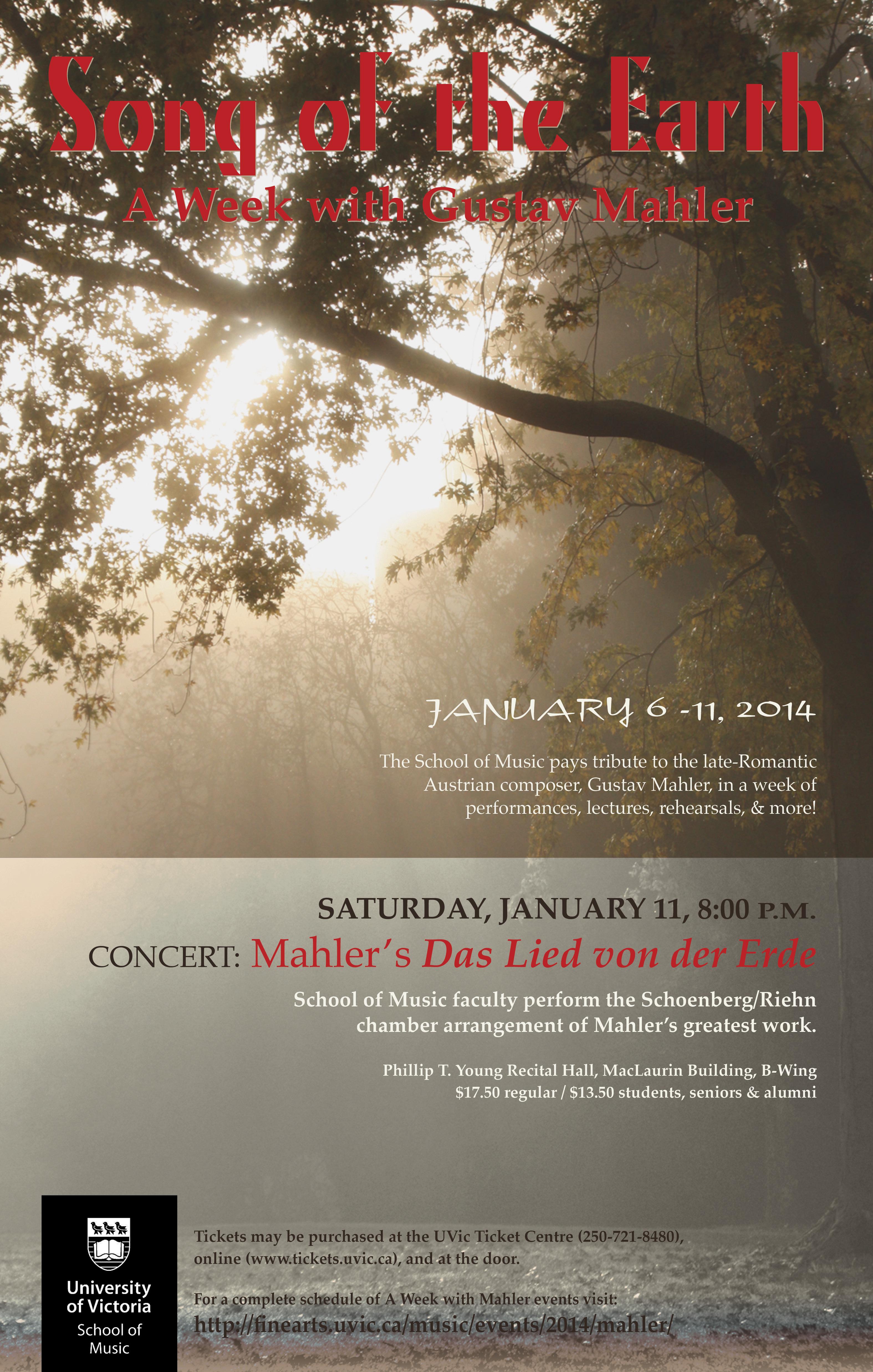 Mahler Week poster - Jan14