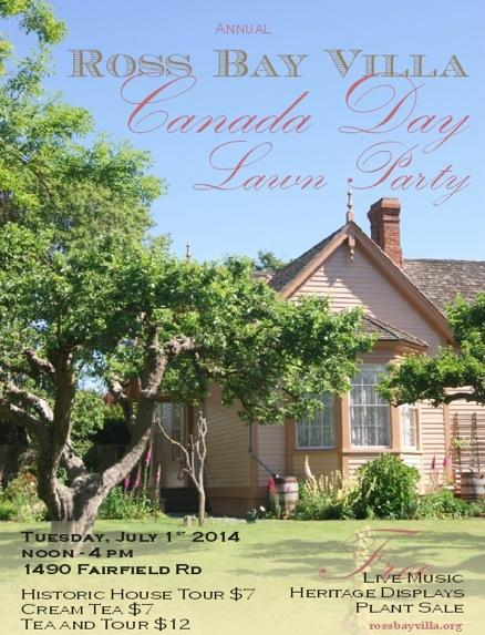 Ross Bay Villa Canada Day Lawn Party 2014