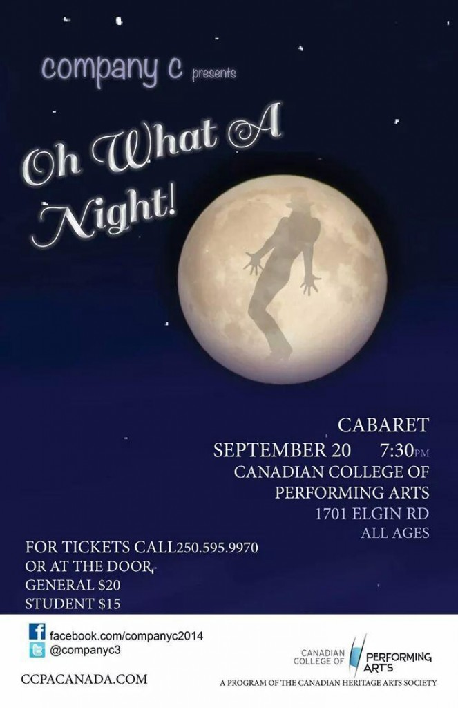Oh What A Night Company C Cabaret September 20 2014