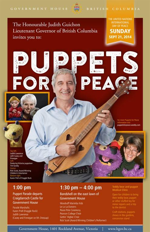 Puppets for Peace Government House Activities Sept 21 2014