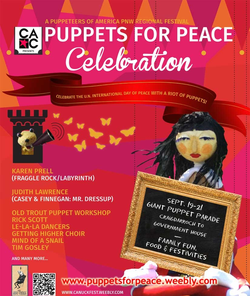 Puppets for Peace poster September 2014