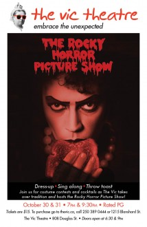 Vic Theatre Rocky Horror Picture Show october 2014