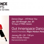 Dance Victoria presents Dance Days 2016 January 22-31.