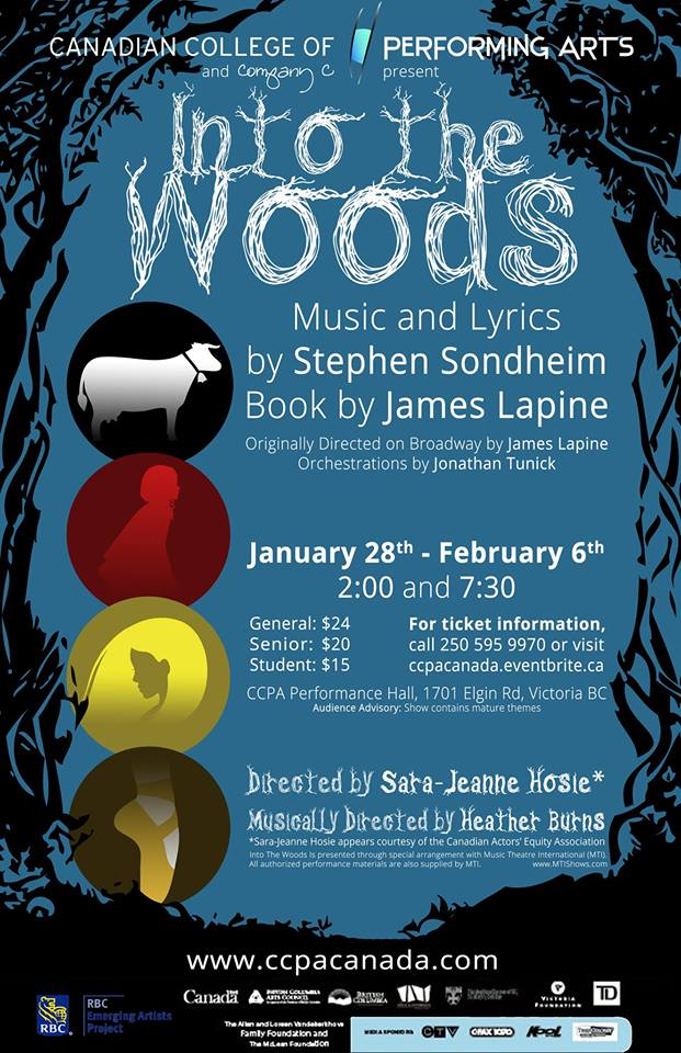 Into the Woods poster Jan Feb 2016