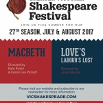 Greater Victoria Shakespeare Festival 2017 season
