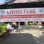Canada Day Living Flag 2011, Victoria BC