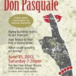 Fear No Opera presents Don Pasquale, June 15 2013