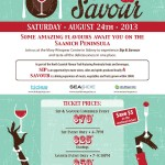 Sip and Savour August 24, 2013 in Sidney BC