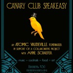Canary Club Speakeasy a Fundraiser for Atomic Vaudeville November 28, 2013