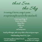 The Trees That SeaThe Sky, March 12 2014 at First Met United.