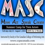 MASC Summer Camp for Teens at the Canadian College of Performing Arts, Victoria BC