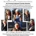 Laughing Allowed! —The Slapstick World of Neighbourhood Activism. November 8th, 2014.