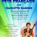 Fête Française avec Charlotte Diamond November 15 2014