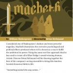 Macbeth at Blue Bridge Repertory Theatre May 5-17 2015. A review.