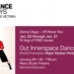 Dance Victoria presents Dance Days 2016 January 22-31.