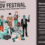 Paper Street Theatre Improv Festival April 12-16, 2016. Celebrating 5 years as a company.