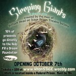 Sleeping Giants by William Head on Stage WHoS October 7-November 5 2016. A review.