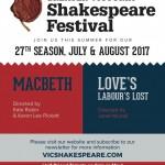 Greater Victoria Shakespeare Festival 2017 season
